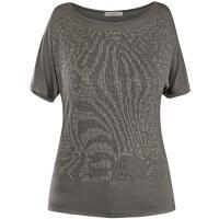 Monnari Krótki t-shirt zdobiony pajetami TSH1280