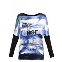 Monnari T-shirt z połyskującym nadrukiem TSH3690