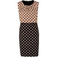 Anna Field Sukienka z dżerseju beige / black AN621C0MK-B11