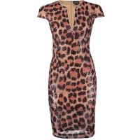 Just Cavalli Sukienka letnia rose/light brown/black JU621C04E-J11