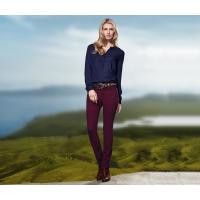 Tchibo Spodnie dżinsowe »Slim Fit«, bordowe 400057088