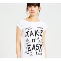 Reserved T-shirt YFL z nadrukiem LD337-00X