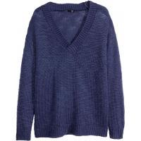 H&M Sweter 0244963002 Ciemnoniebieski
