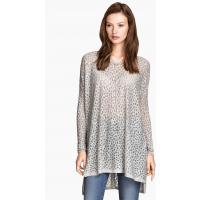 H&M Wide jumper 0249412006 Light grey/Patterned