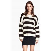 H&M Knitted jumper 0260350001 Nat.white stripe