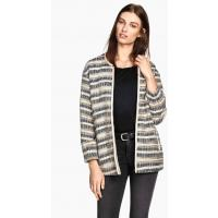 H&M Jacquard-weave jacket 0261651002 Natural white/Striped