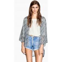 H&M Kimono 0256607017 Biały/Niebieski