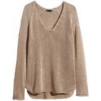 H&M Sweter 0250582005 Szarobrązowy