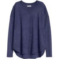 H&M Sweter z domieszką wełny 0311247004 Ciemnoniebieski