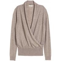 H&M Cienki sweter 0217344003 Jasny szarobrązowy