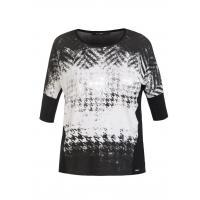 Monnari T-shirt z graficzną pepitką TSH4980
