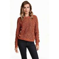 H&M Sweter 0244011022 Pomarańczowy melanż