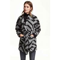H&M Patterned coat 0301841005 Black/Patterned