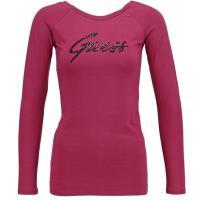 Guess Bluzka z długim rękawem bet on pink GU121D08X-I11