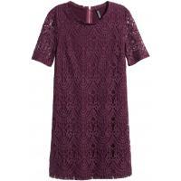 H&M Koronkowa sukienka 0318564009 Ciemna śliwka