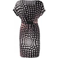 Anna Field Sukienka z dżerseju taupe/black AN621C0OG-B11