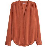 H&M Satynowa bluzka 0301831003 Pomarańczowy