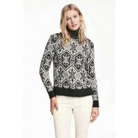 H&M Jacquard-knit jumper 0330268002 Dark grey/Pattterned