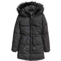 H&M Watowana kurtka 0322465004 Czarny