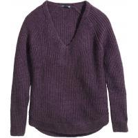 H&M Sweter w prążek 0217385012 Ciemnofioletowy