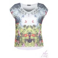 Monnari T-shirt z motywem łąki TSH2771