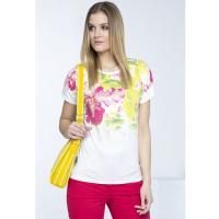 Monnari T-shirt z kwiatowym karczkiem TSH0390