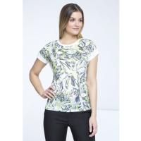 Monnari T-shirt z tropikalnymi kwiatami TSH2230