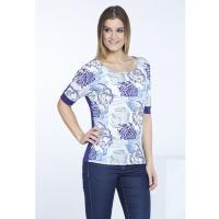 Monnari T-shirt z kwiatowym panelem TSH1010