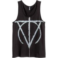 H&M Koszulka z nadrukiem 0386483002 Czarny