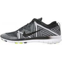 Nike Performance FREE TR FLYKNIT Tenisówki i Trampki black/white/volt N1241A0F7-Q11