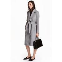 H&M Wool-blend coat 0409498001 Grey marl
