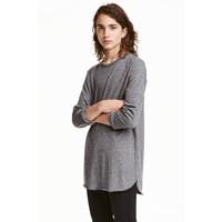 H&M T-shirt z długim rękawem 0311162003 Ciemnoszary melanż