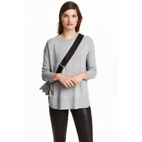 H&M Cienki sweter 0390125022 Szary melanż