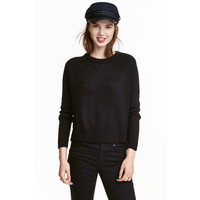 H&M Sweter 0404712012 Czarny