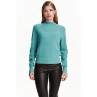 H&M Kaszmirowy sweter 0394276009 Turkusowy melanż