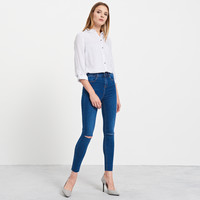 Reserved Jeansy high-waisted PQ483-55J