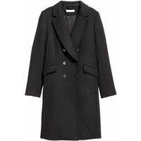 H&M Płaszcz z domieszką wełny 0416724004 Czarny