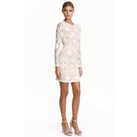H&M Koronkowa sukienka 0426996003 Naturalna biel