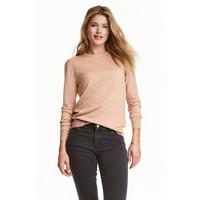 H&M Sweter z wełny merynosowej 0317458009 Beżowy melanż