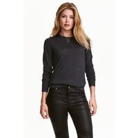 H&M Sweter z wełny merynosowej 0317458007 Ciemnoszary melanż
