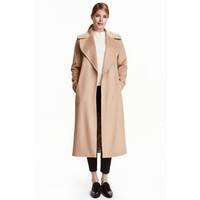 H&M Płaszcz z wełną 0411575001 Beżowy