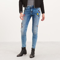 Reserved Jeansy z naszywkami PI217-50J