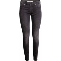 H&M Spodnie superstretch 0256151013 Czarny sprany