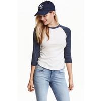 H&M Bluza bejsbolowa 0375849014 Niebieskoszary