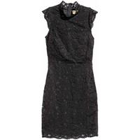 H&M Koronkowa sukienka 0437779001 Czarny