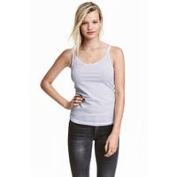H&M Dżersejowa koszulka 0355072024 Biały/Paski