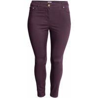 H&M H&M+ Elastyczne spodnie 0352811023 Ciemnofioletowy