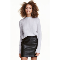 H&M Sweter w prążki 0405442013 Grey marl