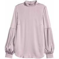 H&M Satynowa bluzka 0433462001 Fioletowy