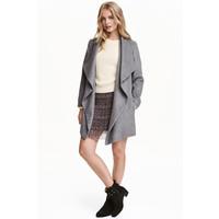 H&M Krótki płaszcz 0437150001 Ciemnoszary